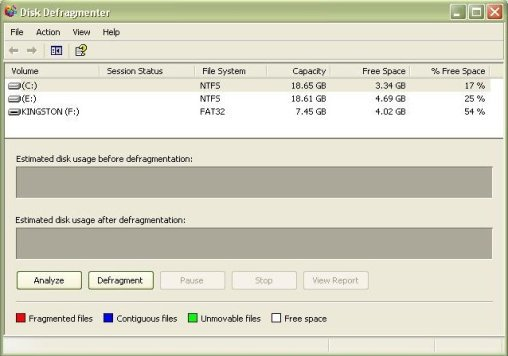 what is disk defragmenter