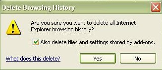 how to permanently delete internet history from computer
